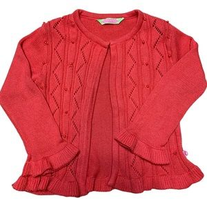 Sophie & Sam pink Pointelle cardigan size 3T